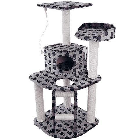 Cat Scratching Poles Post Furniture Tree House Condo Black Grey