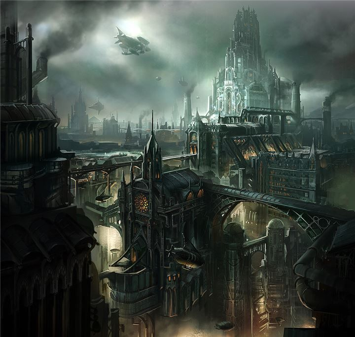 I wish I could claim that this is an image of New Kent City. It's perfect. But what it really is is a very good rendering for an upcoming TV show called Lantern City (www.LanternCityTV.com).