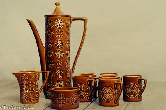 Vintage Portmeirion Pottery Coffee Set. Totem by by TheGooseChase, £80.00