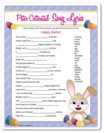 Peter Cottontail Lyric Challenge - Easter Game Ideas, Easter Games for Adults, Easter Games for Kids