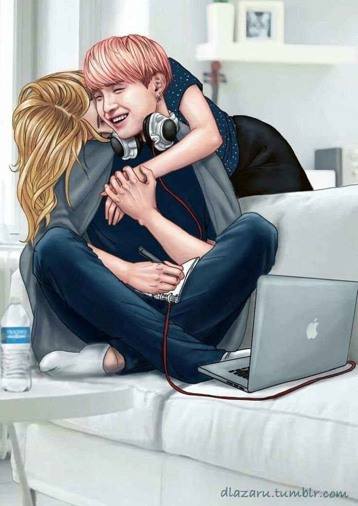 Suga with his girlfriend #fanart #suga