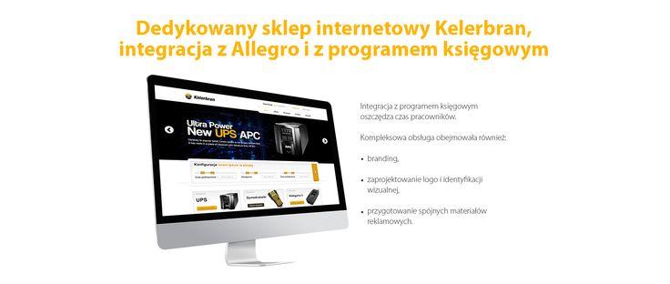 Dedykowany #sklep_internetowy Kelerbran, integracja z Allegro i z programem księgowym. #migomedia #ecommerce #sklepinternetowy #esklep