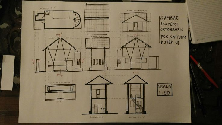 [Orthographic Projection] Pos Satpam Kutek. March 2017