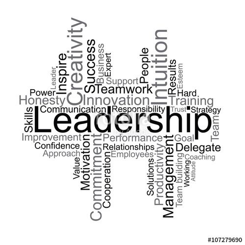 Wektor: Leadership tag cloud