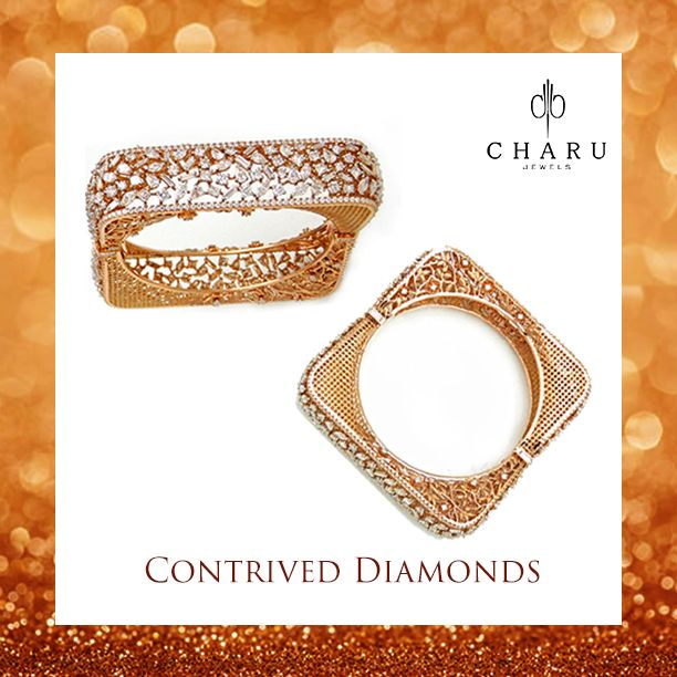 When vintage culture combines with modern choices, a beautiful jewelry like this is crafted. It is a perfect selection of kada for your graceful wrist. Not so gaudy neither too heavy, a flawless touch to your personality deliberately created for your beautiful hands with the extravagant diamonds. #‎ColourYourSenses‬ ‪#‎CharmingCharu‬ ‪#‎jewellery‬ ‪#‎bangles‬ ‪#‎finejewellery‬ ‪#‎luxurylife‬ ‪#‎handgoals‬ ‪#‎designerjewelry‬ ‪#‎jewelryjunkie‬ ‪#‎jewelryaddict‬ ‪#‎diamondsareforever‬…