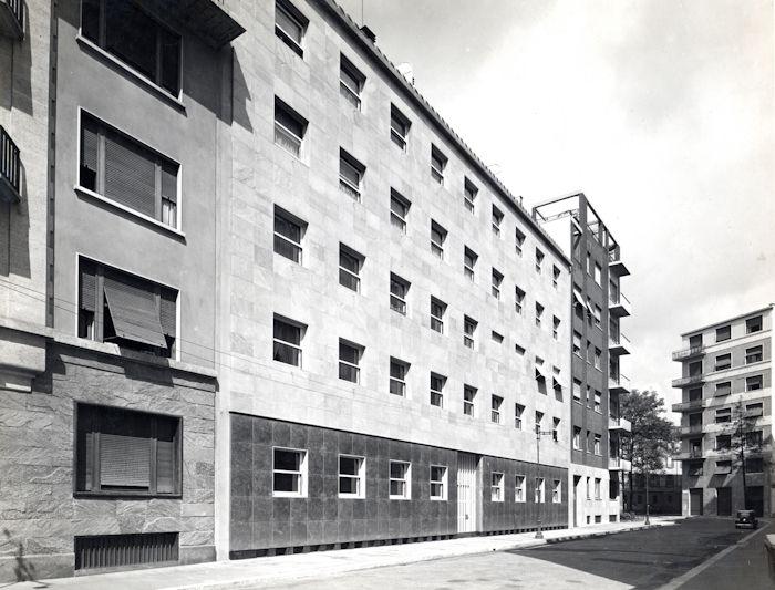 Casa d'appartamenti Portaluppi Milano, via Morozzo della Rocca 5 1935, 1938-1939