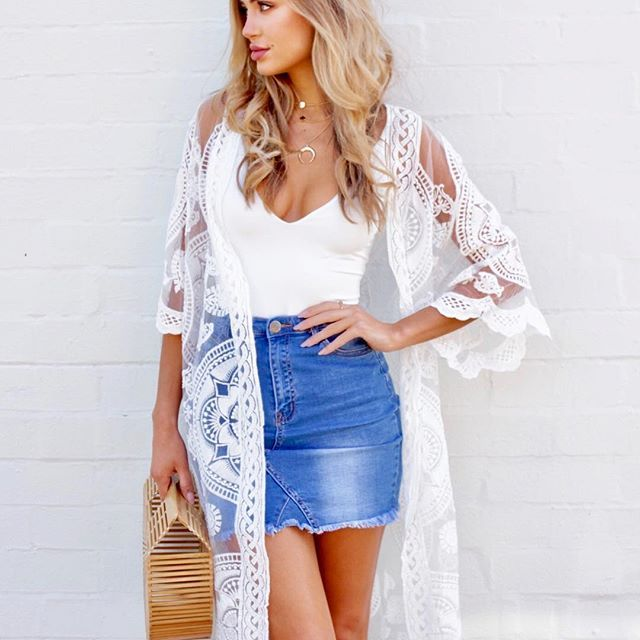 Gorgeous lace capes for all shapes and sizes >> VALENCIA Lace Cape $69 now available @ginghamandheels ✨✨✨Shop this entire look ✌🏻️