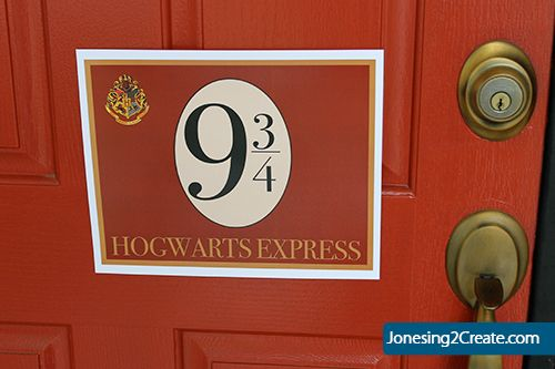 Free Hogwarts Express Sign printable from Harry Potter