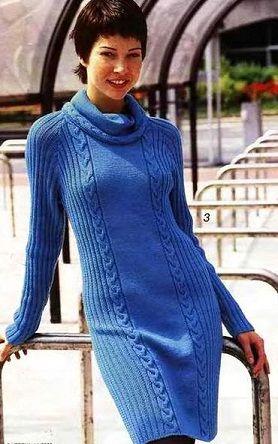 Knitted dress - Russian, use Google Chrome to translate