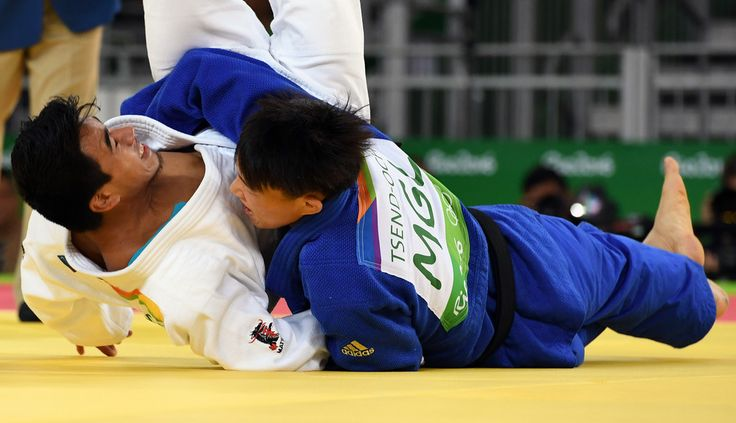 DAY 1:  Men's Judo - Jose Ramos of Guatemala vs Tsogtbaatar Tsend-Ochir of Mongolia