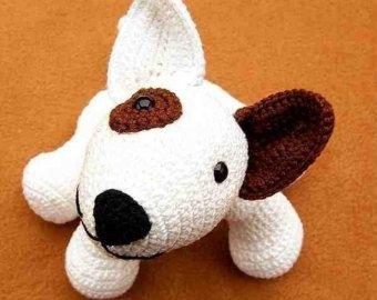 Amigurumi perro bull terrier Jokie broma, patrón de ganchillo PDF