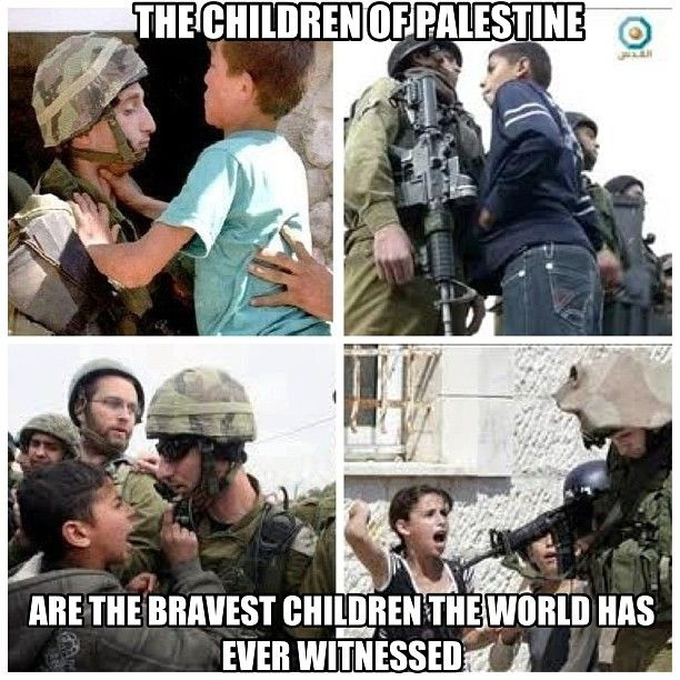 The bravest kids you will ever see are the Palestinian kids.  #freePalestine #freeGaza May Allah watch over all the Palestinians...Insha Allah...kd