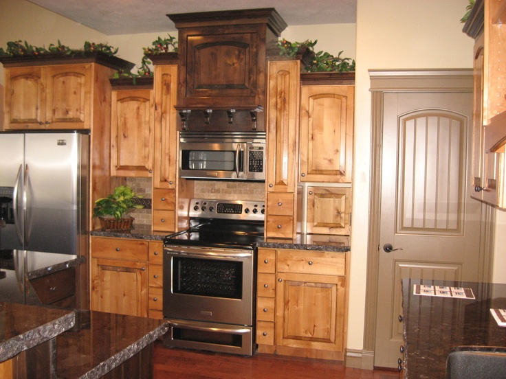 Two Tone Knotty Alder Kitchen Great Cabinet Pinterest