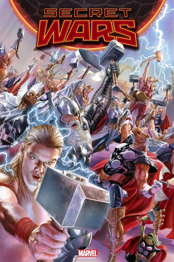 Secret Wars #2 - cover by Alex Ross