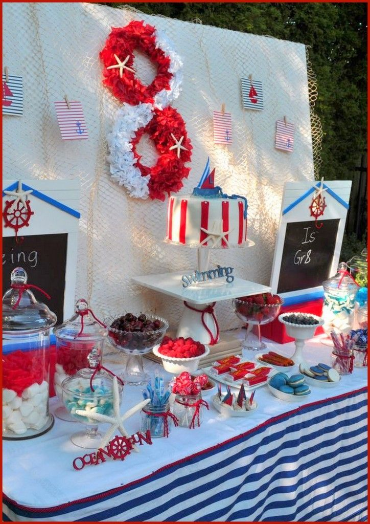 Nautical Tablecloth | Nautical Party   Love The Tablecloth | Parkeru0027s  Second Birthday
