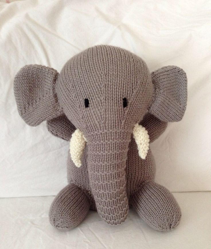 Hand knitted toy soft toy plush toy stuffed by Georgebearcompany, $27.00