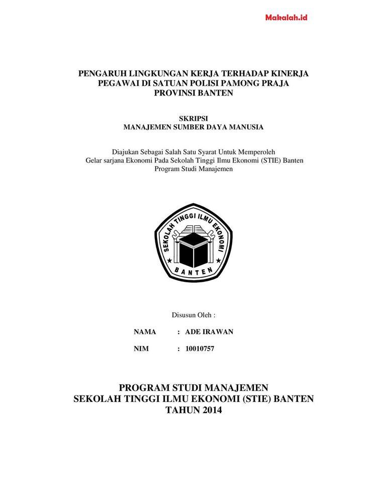 Skripsi Akuntansi Manajemen Lingkungan Ide Judul Skripsi Cute766