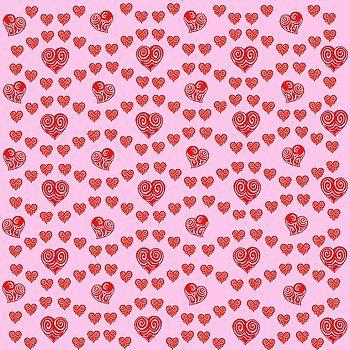 Hearts Pink Pattern by Gianalbert Oliv