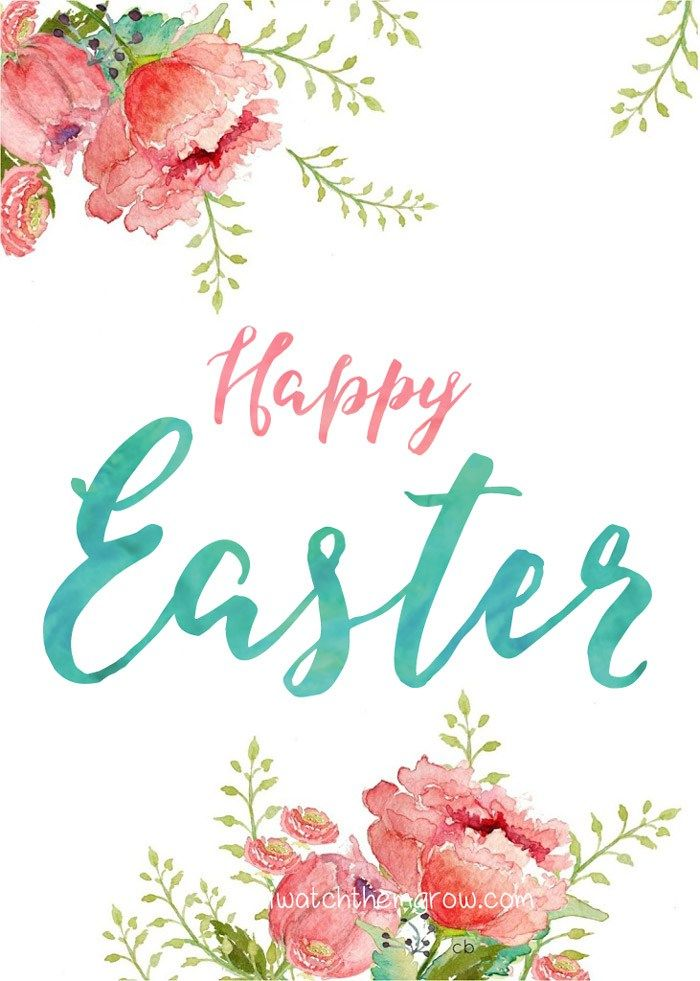 Happy Easter Printable by iwatchthemgrow.com