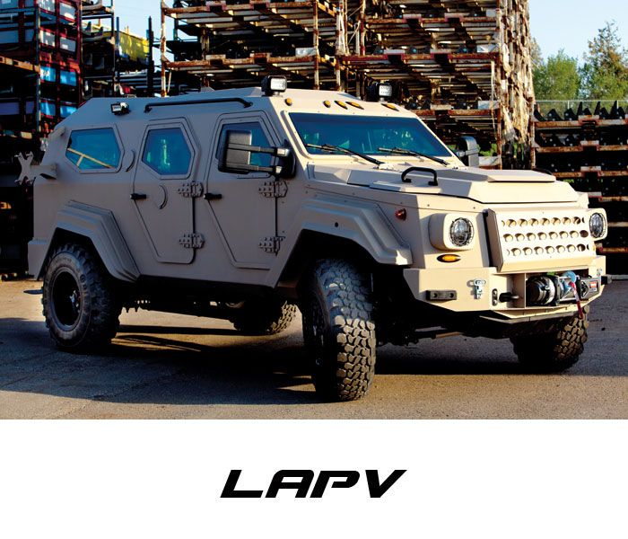GURKHA Armored vehicles manufactured by Terradyne Armored Vehicles Inc. (TAV)