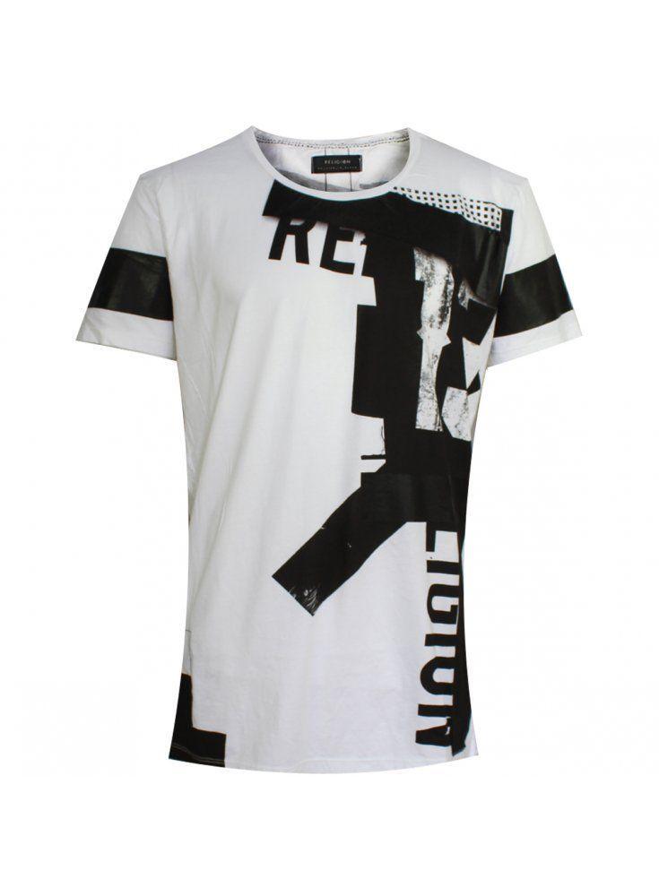 Religion Clothing Striker Crew Neck T Shirt White AW15   eBay