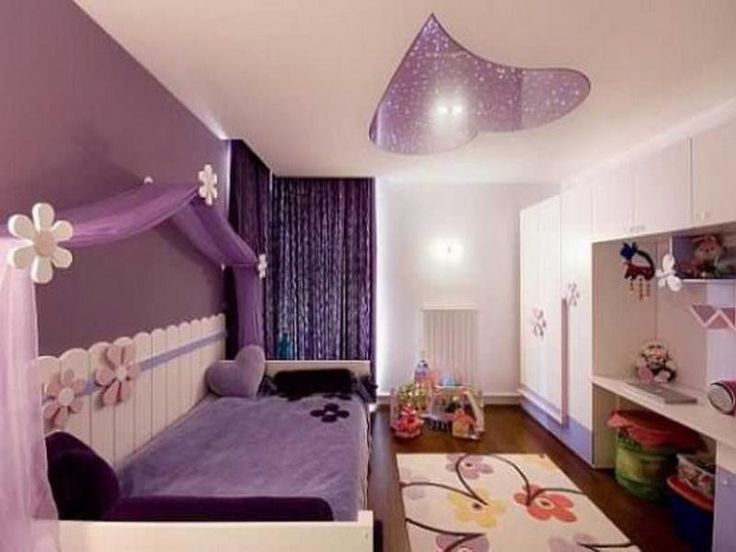 Purple Bed With Purple Curtain In Purple Color Scheme Of Modern Girls Bedroom  Design Ideas. Wonderful Purple Teenage Girls Bedroom Design Ideas With  Classic ...