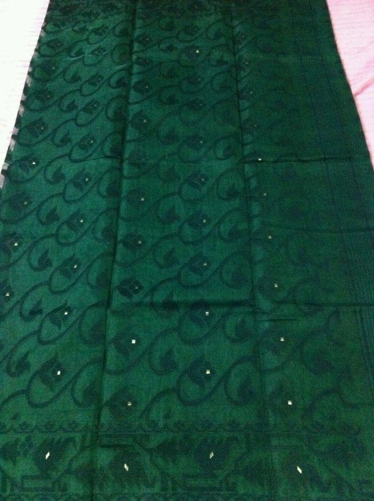 Green Soft Dhakai Jamdani Saree