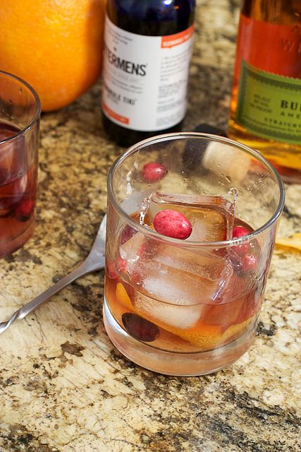 Cranberry Old Fashioned by LittleRedKitchen, via Flickr