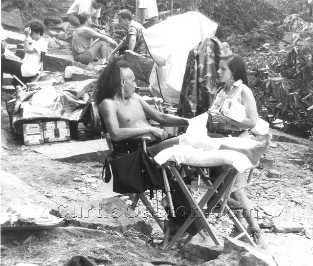 Wes Studi, set of Last of the Mohicans. 1991. Chimney Rock location.