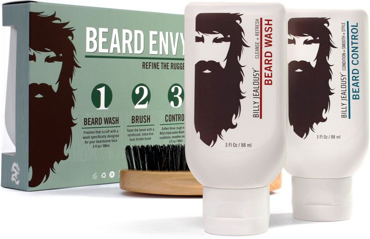 Billy Jealousy Beard Envy Kit Includes: Hydrating Beard Wash with aloe and soy protein to soften and smooth your beardsome face (3.0 oz.),  Extra-firm, boar bristle brush (0.15 lbs.), Beard Control with aloe and jojoba oil to hydrate and lightly style the beard (3.0 oz.)