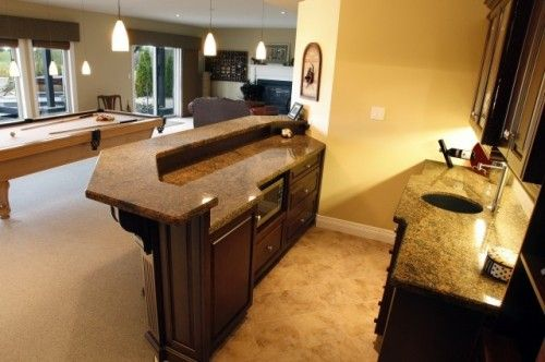 Nice Basement Layout With The Bar And Pool Table Ideas