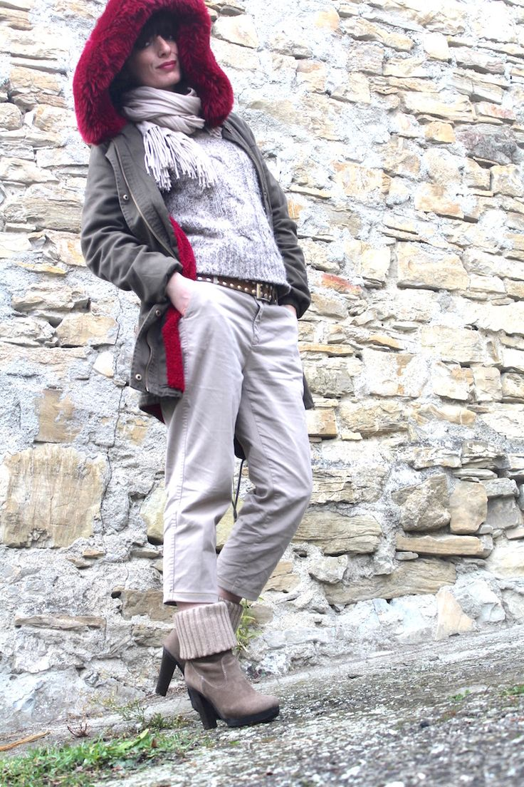 #parka #ootd #fashion #streetstyle #winter #cool #burgundy #taupe