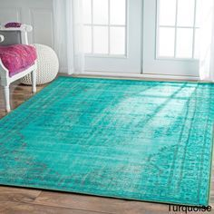 nuLOOM Vintage Inspired Overdyed Rug (8' x 10'), but the fuscia one