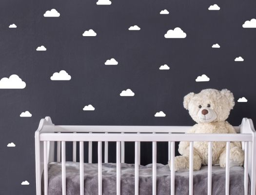 Spectacular I love Wandtattoo Wall stickers Kids uWhite clouds u pieces Sticker Wall Decal Boy Girl Details can be found by clicking on the image
