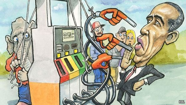 The president and the pump  Voters will hold Barack Obama responsible for rising petrol prices, even though he isn't