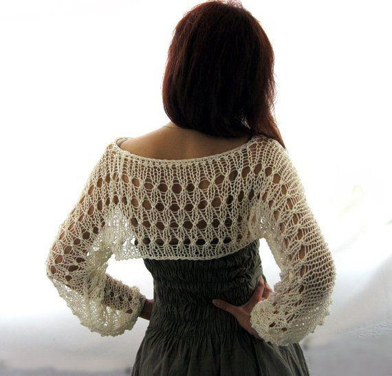 Sweater shrug for summer back