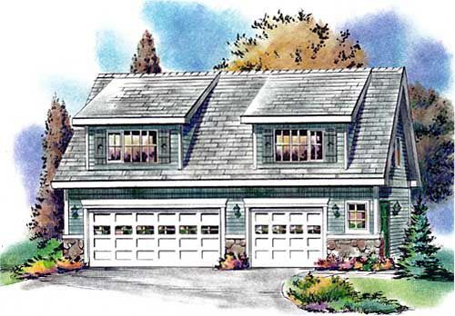 Country garage plan 58557 3 car garage cars and for Country garage plans