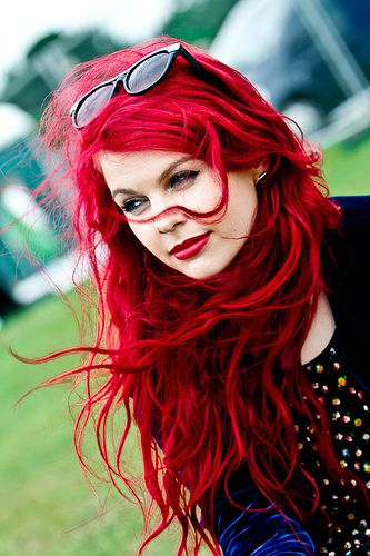 I can only imagine the trouble of maintaining this brilliant bright red hair color.