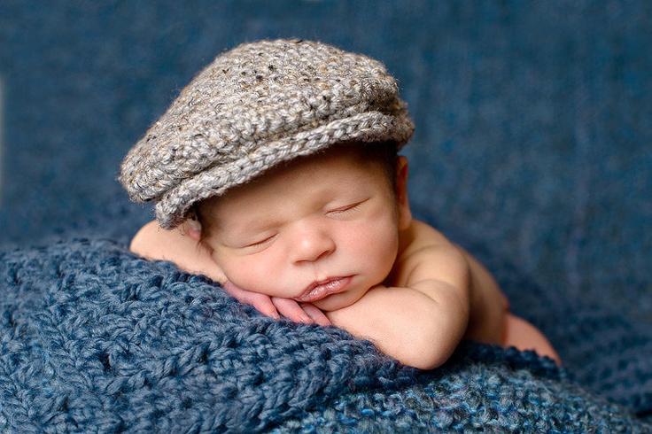 Baby Boy Drivers Hat For Newborn Photos Scally Cap