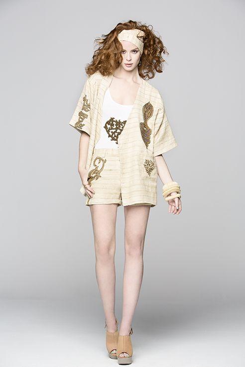 kundalini shorts with embroidery pockets. Good luck khadi jacket with logo body.. soon at selected stores