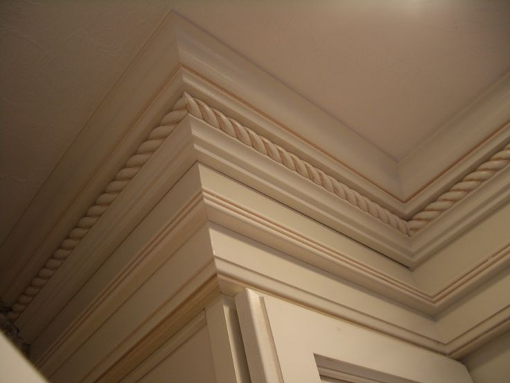 Painted Cabinets Crown Rope Molding Moulding Kitchen