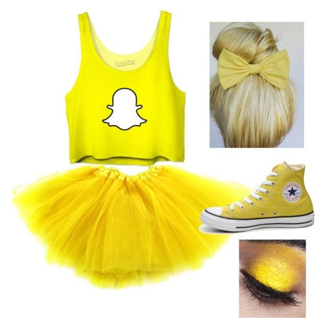 """Snapchat Halloween costume"" by sydderboo on Polyvore featuring Converse"