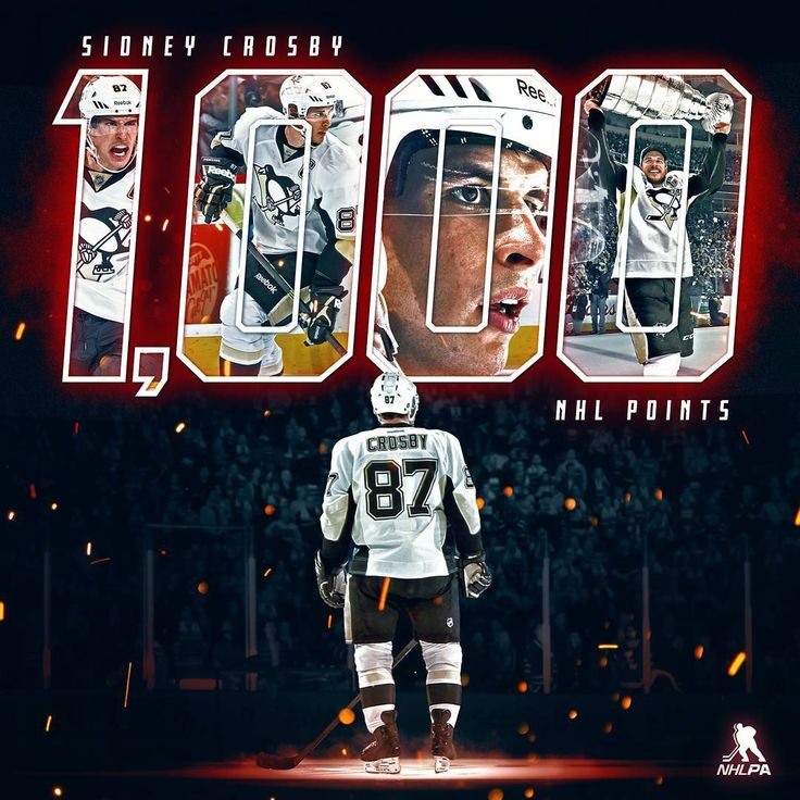 nhlpa_official: Sidney Crosby becomes the 86th NHL player in history to hit 1,000 points. Congratulations! #Crosby1000
