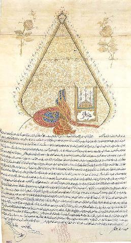 Ferman of Sultan Selim III-1794