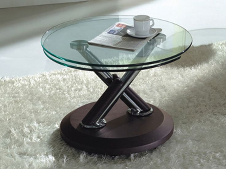 17 best images about coffee tables for small spaces on for Small glass coffee table
