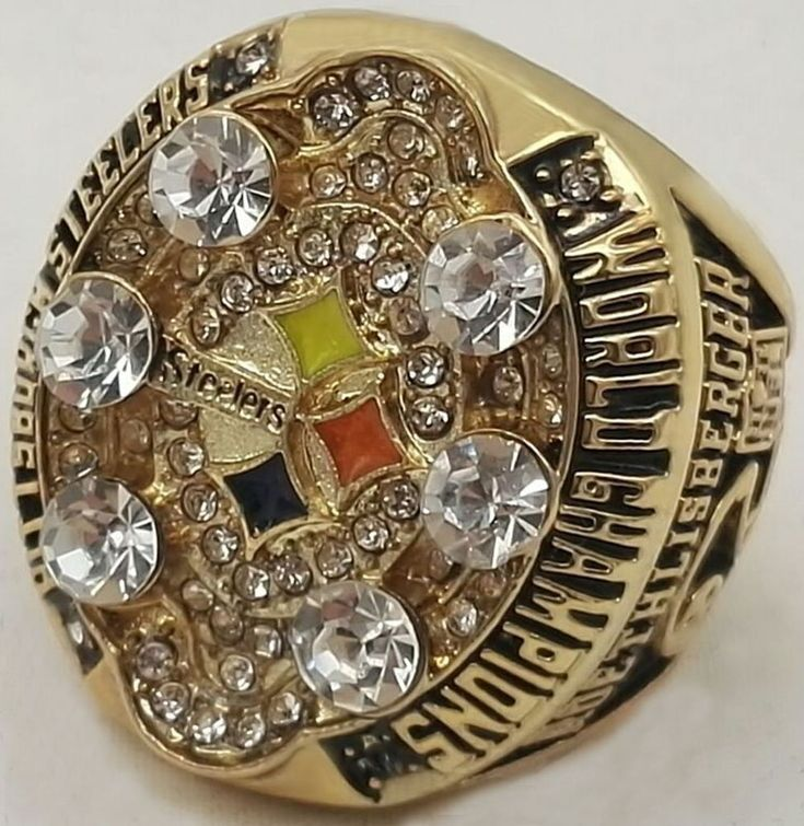 2008 Super Bowl Pittsburgh Steelers Custom Replica World Championship Ring