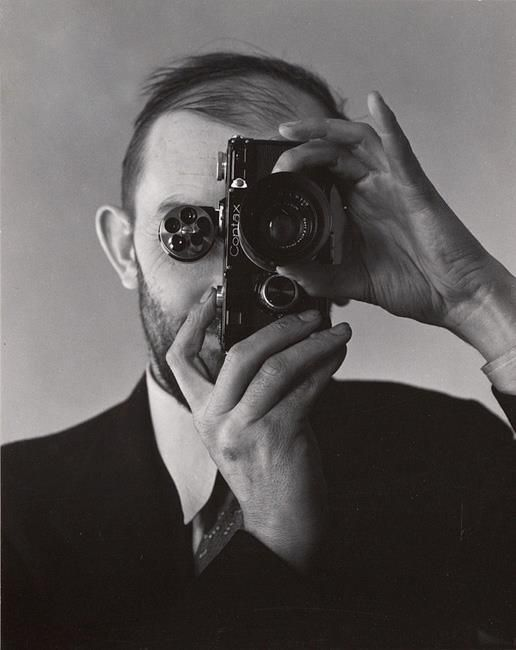 ansel adams with a contax camera by edward weston