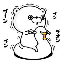 クマさんのスタンプです。