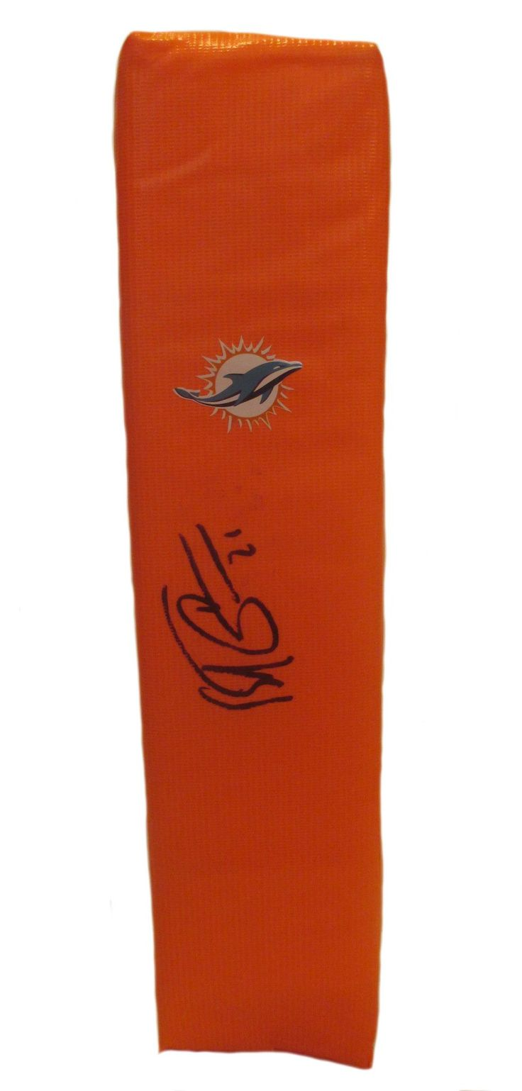 Brent Grimes signed Miami Dolphins full size football touchdown end zone pylon w/ proof photo.  Proof photo of Brent signing will be included with your purchase along with a COA issued from Southwestconnection-Memorabilia, guaranteeing the item to pass authentication services from PSA/DNA or JSA. Free USPS shipping. www.AutographedwithProof.com is your one stop for autographed collectibles from Miami sports teams. Check back with us often, as we are always obtaining new items.