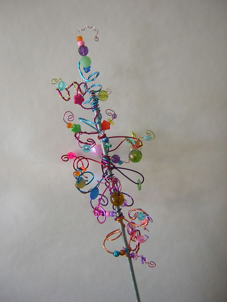 Funky Garden Stake -- just a picture, not a tutorial